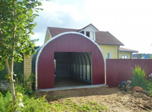 Бескаркасный арочный гараж: удобное решение