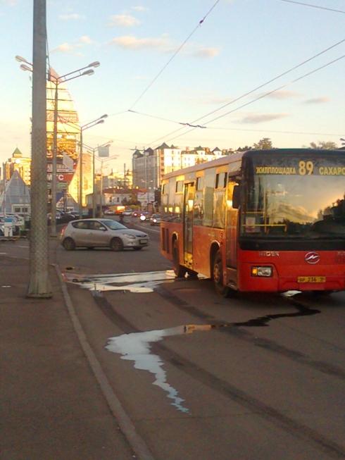 Автобус начал разваливаться прямо на ходу